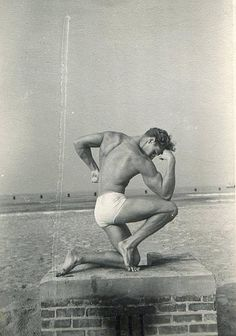 1950s Muscle Bodybuilder Man Muscular Masculine Briefs Cut Speedo Swimsuit Vintage Photo by Christian Montone, via Flickr