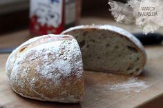TUOREPURISTETTUA (aka Freshly Pressed blog by Marjo Vähäsarja): Country side bread without kneading | #bread #kneading # easy baking #sour dough