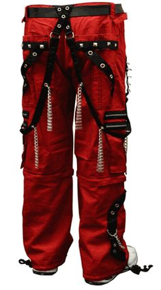 "Tripp NYC ""New Dungeon Dweller"" Pants (Red/Black)"
