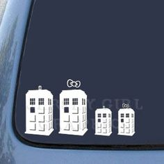 Doctor Who TARDIS Family Vinyl Decal