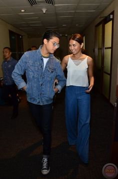 — how can they be simply beautiful and handsome just by walking? Celebrity Fashion Outfits, Celebrities Fashion, Daniel Padilla, Kathryn Bernardo, Summer Ootd, Korean Babies, Simply Beautiful, Mom And Dad, Otp