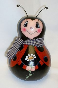 Ladybug Gourd Hand Painted by FromGramsHouse on Etsy