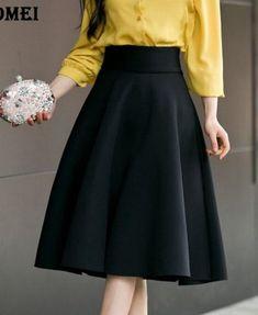High Waist Pleat Elegant Skirt Price:$29.31