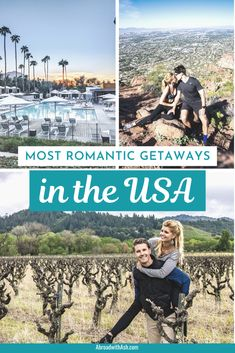 As exciting as vacations to far flung destinations are, sometimes a getaway closer to home is more manageable. Discover the most romantic cities in the USA to celebrate a special occasion or just spend time with your plus one! #mostromanticcitiesintheUS #romanticplacesintheUS #romanticgetaways #couplestrips #couplesvacation #romanticvactionusa