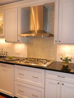I LOVE this backsplash! Very glitter full!