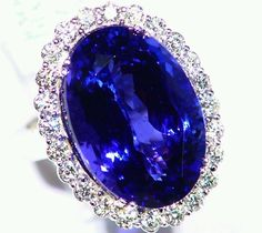 NEW 25.40CT 14KT GOLD NATURAL AAA GRADE TANZANITE WHITE DIAMOND ENGAGEMENT RING in Jewelry & Watches, Engagement & Wedding, Engagement Rings | eBay