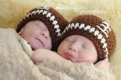 football crochet baby hats...this would be perfect for our little guys.
