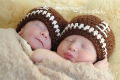 crochet babi, football helmets, football baby, crochet baby hats, art, babi hat, football season, twins, twin boys