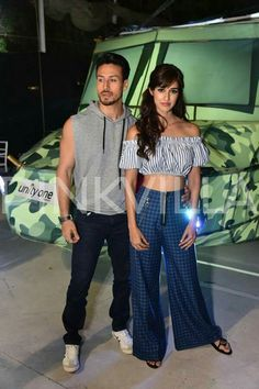 Bollywood actor Tiger shroff with Disha patani for Baaghi 2 promotion