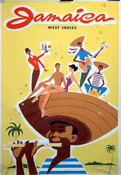 Vintage Travel Poster of Jamaica Retro Poster, Poster Ads, Poster Prints, Tourism Poster, Vintage Travel Posters, Vintage Postcards, Vintage Advertisements, Vintage Ads, Jamaica West Indies