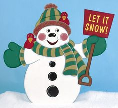 Let It Snow Woodcrafting Pattern