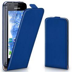 Hülle Cover mit Magnet   Flip Case Etui Handyhülle zum Aufklappen   Handytasche Handy Schutz Bumper Schutzhülle mit Schale in Dunkelblau