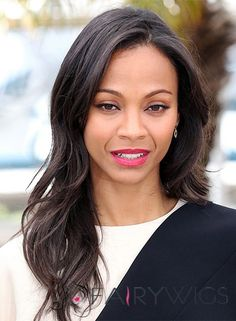 View yourself with Zoe Saldana hairstyles and hair colors. View styling steps and see which Zoe Saldana hairstyles suit you best. Bollywood Hairstyles, 2015 Hairstyles, Celebrity Hairstyles, Straight Hairstyles, Cool Hairstyles, Zoe Saldana, Hair Styles 2014, Medium Hair Styles, Long Hair Styles
