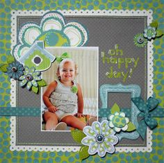 Lovely layout using Bo Bunny products