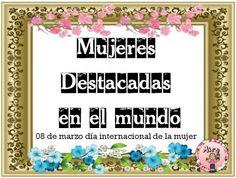 Día Internacional de la Mujer. Mujeres destacas de la historia (1)
