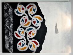 Chermene Castle Kura Gallery Maori Art Design New Zealand Painting Maori Patterns, Maori People, Maori Designs, New Zealand Art, Nz Art, Maori Art, Kiwiana, Painted Rocks, Canvas Art