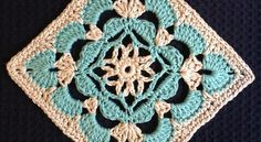 Scallop Flower Square by Beverley Moffitt