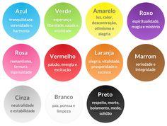 11 cores - Significado das cores
