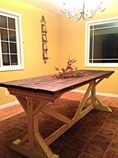 DIY Pinterest Farmhouse table...
