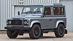 """Kahn, the British automobile design house has taken the three door Land Rover Defender under its wing and given it a number of updates and exciting new alterations. The vehicle is named XS 90 after its makeover and is seen with Orkney Grey exteriors while satin black details are seen on mesh headlamp and front grille besides side steps, bumpers and mirror caps. Special Kahn trademark 18"""" alloy wheels add to the ensemble and these are wrapped with BF Goodrich tyres."""