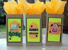 Straight from the Nest: Halloween Goody bags and then a felt flowered card