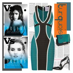"""""""Turquoise (6)"""" by dodine ❤ liked on Polyvore featuring moda, Hervé Léger y Alexander Wang"""