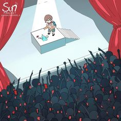 Dark Illustrations Showing What's Wrong With Our Society That You Won't Understand Without Looking At The Titles Pics) Dark Art Illustrations, Illustration Art, Sad Anime, Anime Art, Dessin Old School, Image Triste, Sun Projects, Sad Drawings, Vent Art