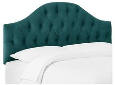 Skyline Furniture Skyline Diamond Tufted Headboard - Green - Queen