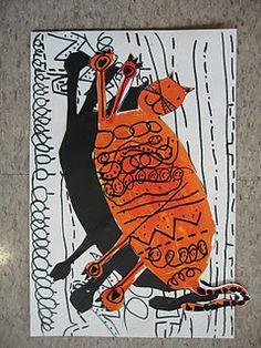 like the shadow...either trace shape and color with sharpie or trace on black paper and cut.