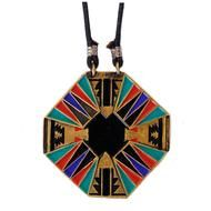 gold plated w/ colored resin inlay Navajo, Art Nouveau, Summer Of Love, Jewelry Design, Pottery, Jewels, Silver, Leather, Finders Keepers