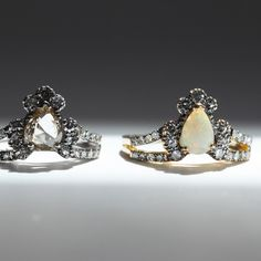 Two Ritual Solitaire rings, one a little shyer than the other.