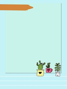Cactus Backgrounds, Cute Wallpaper Backgrounds, Cute Cartoon Wallpapers, Photo Frame Wallpaper, Framed Wallpaper, Flower Background Design, Dreamcatcher Wallpaper, Flower Iphone Wallpaper, Stock Quotes