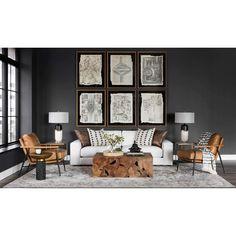 Accent Walls In Living Room, Boho Living Room, Living Room Grey, Room And Board Living Room, Black And Cream Living Room, Manly Living Room, Black Rooms, Black Walls, Dark Blue Walls