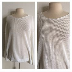 """FINALLane Bryant open knit sweater sz 18/20 Lane Bryant oversized white sweater. Semi lightweight and great for spring! Size 18/20. Measures 30"""" long with a 52"""" bust. Purchased brand new and worn a small handful of times. Open knit front side. Looks absolutely adorable with leggings and boots! There are a few very small snags on the sleeves and one spot of discoloration on the back (not even .5"""" big). 100% cotton. NO TRADES PRICE IS FIRM Ask about bundle discounts Lane Bryant Sweaters Crew…"""