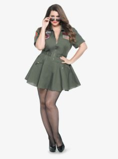 Leg Avenue - Top Gun Flight Costume Dress