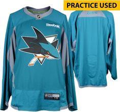 San Jose Sharks Practice-Used Teal Reebok Jersey Size 58 6a62698b2