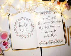 Welcoming the new year with a floral wreath and a quote to keep me motivated ❤️ P.S. Check out the link in my bio for my youtube video of this setup! . . . . . #bulletjournal #bujo #bujosetup #journaling #floralwreath #hello2018 #planwithme #bujoideas #bujoweekly #bujojunkie #bujolove #studyinspo #studyspo #dingbatsnotebooks #bulletjournals #bulletjournalspread #bulletjournalss #bulletjournallove #bulletjournaladdict #planner #design #creative #art #doodle #doodles #doodling