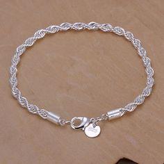 Pletené stříbrné řetězce pokovené náramek ženy šperky velkoobchod mix spousta prodejem věcí CH318 # náramky vintage pulseras