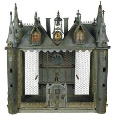 A chateau bird cage | From a unique collection of antique and modern more folk art at http://www.1stdibs.com/furniture/folk-art/more-folk-art/
