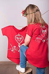Detské oblečenie - Červená tunika - folk dievča - 9052555_ #detskamoda#jedinecnesaty#handmade#originalne#slovakia#slovenskydizajn#móda#šaty#original#fashion#dress#modre#ornamental#stripe#dresses#vyrobenenaslovensku#children#fashion#rucnemalovane#folk Folk, Graphic Sweatshirt, Sweatshirts, Sweaters, Fashion, Tunic, Moda, Popular, Fashion Styles