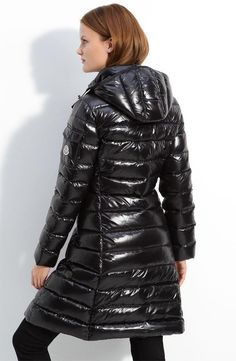 Moncler 'Moka' Quilted Down Coat Moncler, Down Puffer Coat, Down Coat, Puffer Coats, Sporty Chic, Sporty Style, Coats For Women, Jackets For Women, Mode Mantel