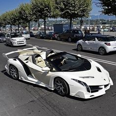 Sport Car in the World There are Ferrari cars and trucks Lamborghini Hennessey Venom Koenigsegg Agera RS Bugatti Veyron Bugatti Chiron and so on Lamborghini Veneno, Carros Lamborghini, White Lamborghini, Koenigsegg, Lamborghini Photos, Lamborghini Concept, Lamborghini Interior, Luxury Sports Cars, Top Luxury Cars