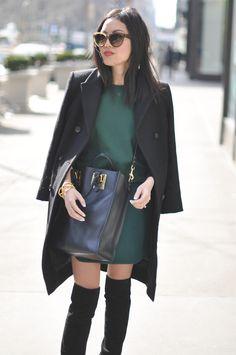 Emerald & Black - 9to5Chic