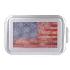 Distressed American Flag Cake Pan