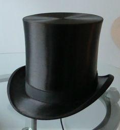 e884e7e5106 XL Brown Silk Plush Top Hat Beaver Top Hat Size 7 1 2 7 3 8