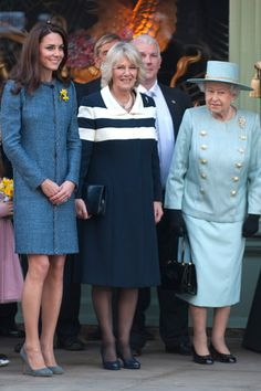 Kate Middleton steps out with the Queen and Camilla