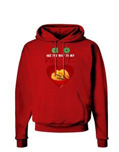 TooLoud Tacos Are the Way To My Heart Dark Hoodie Sweatshirt