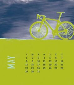 another month, another calendar page - this time, I'm honoring the onset of cycling season, and national bike month