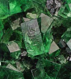 Gemmy green Fluorite twins with galena