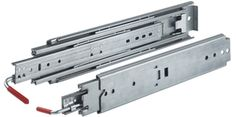 """Hettich KA 3338 22"""" Heavy Duty Locking Drawer Slide. Locks in both the closed and open positions. Great for mobile applications like RV's, utility truck tool boxes, fire trucks, ambulances, and other mobile applications. Please read the specification sheet for details and weight ratings."""